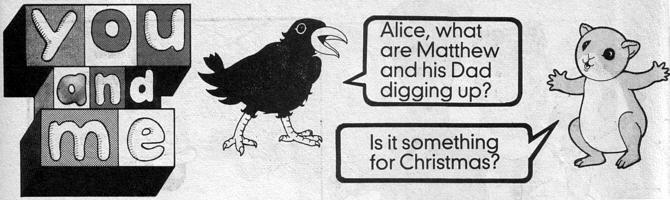 Crow and Alice in Buttons